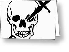 Symbol: Skull & Dagger Greeting Card