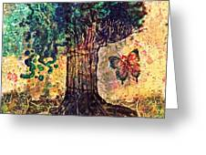 Symbolically Solid Tree Greeting Card by Paulo Zerbato
