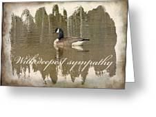 Sympathy Greeting Card - Canada Goose Greeting Card