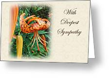 Sympathy Greeting Card - Wildflower Turk's Cap Lily Greeting Card