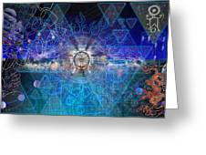 Synesthetic Dreamscape Greeting Card by Kenneth Armand Johnson