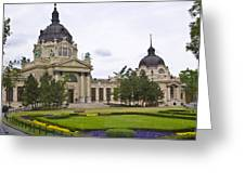 Szechenyli Baths - Budapest Greeting Card