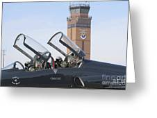 T-38 Talon Pilots Make Their Final Greeting Card by Stocktrek Images