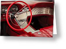 T-bird Interior Greeting Card by Dennis Hedberg