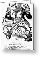 T. Roosevelt Cartoon, 1903 Greeting Card