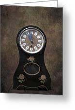 Table Clock Greeting Card