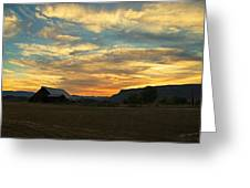 Table Rock Sunset And Barn Greeting Card