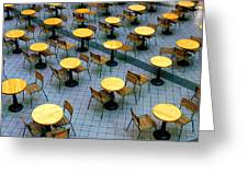 Tables And Chairs II Greeting Card