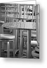 Tables And Stools Greeting Card