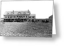 Taft's Hotel 1830 Greeting Card by Extrospection Art