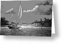 Tahitian Moon Greeting Card by Joseph   Ruff