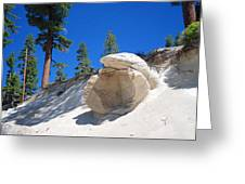 Tahoe Boulder Greeting Card