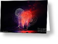 Tahoe Fireworks. Greeting Card