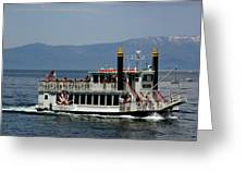 Tahoe Gal On Lake Tahoe Greeting Card