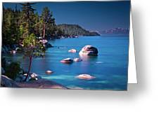 Tahoe On The Rocks Greeting Card