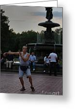 Tai Chi In The Park Greeting Card by Lee Dos Santos