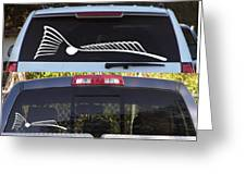 Tailing Redfish Window Decal  To Order Please Go To Www.kevinbrant.com Greeting Card