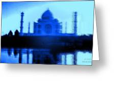 Taj Mahal Blues Greeting Card