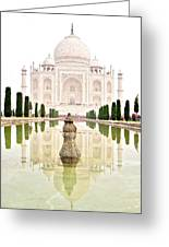 Taj Mahal On The Vertical Greeting Card