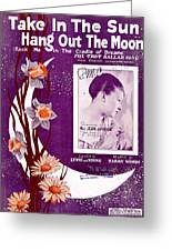 Take In The Sun Hang Out The Moon Greeting Card