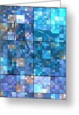 Take Me Geometric Blue Greeting Card