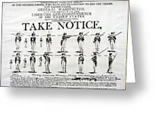 Revolutionary War  Take Notice  Greeting Card
