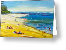 Taking It Easy At Coloundra Beach Queensland Australia Greeting Card