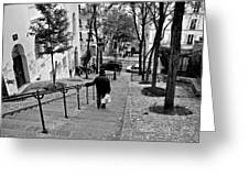 Taking The Stairs Greeting Card