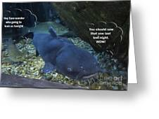 Talking Fish Greeting Card