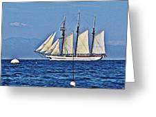 Tall Ship Blues Greeting Card