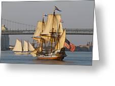 Tall Ship Five Greeting Card