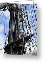 Tall Ship Mast Greeting Card