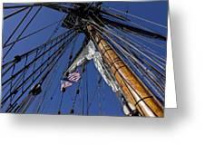 Tall Ship Rigging Greeting Card