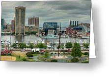 Tall Ships At Baltimore Inner Harbor Greeting Card