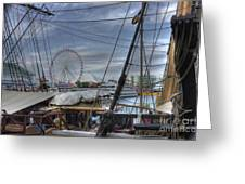 Tall Ships At Navy Pier Greeting Card