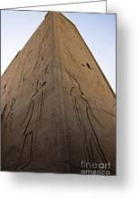 Tall Wall At Edfu Greeting Card by Darcy Michaelchuk