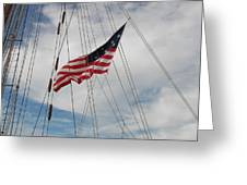Tallship Flag Greeting Card