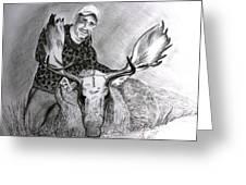 Tamed Moose Greeting Card by Carolyn Ardolino