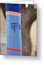 Tamu Astronomy Crocheted Lamppost Greeting Card