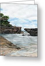 Tanah Lot Temple II Bali Indonesia Greeting Card