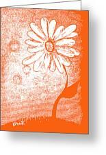 Tangerine Daisy By Shawna Erback Greeting Card