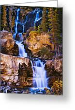 Tangle Falls At Dusk, Jasper National Greeting Card