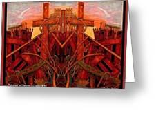 Tangles Of Terror Cross Nine Eleven  Greeting Card