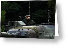 Tank Commander Of A Leopard 1a5 Mbt Greeting Card