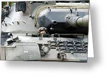 Tank Driver Of A Belgian Leopard 1a5 Greeting Card
