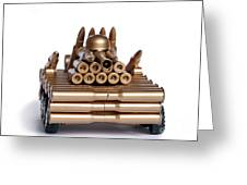 Tank From Shells Greeting Card