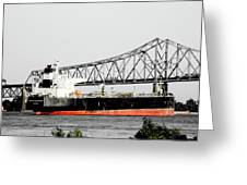 Tanker Baton Rouge Greeting Card