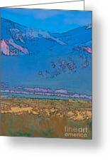 Taos Abstract Greeting Card