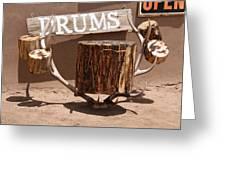 Taos Drum Shop Greeting Card