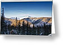 Taos Mountains Sunset  Greeting Card by Lisa  Spencer